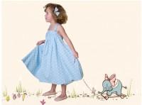 himmelblaues  Prinzessinnen  Kleid