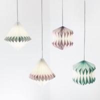 sebra Plissee Papier-Lampe Girl lila