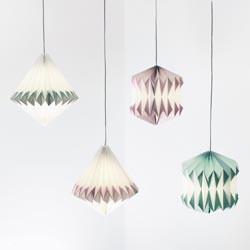 Plissee Papier-Lampe