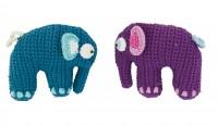 sebra gehaekelte Elefantenrassel