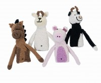 sebra gehaekelte Fingerpuppen home animals