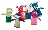 sebra gehaekelte Fingerpuppen mixed animals